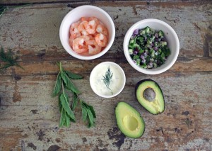 Quick Paleo Meals: King Prawn Avocado Boats